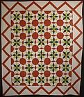Lemoyne Stars Quilt: Circa 1870; Pennsylvania