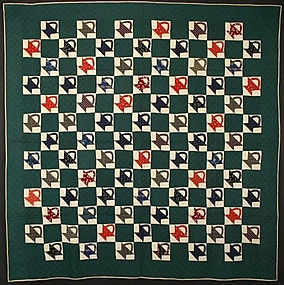Baskets Quilt: Circa 1890; Pennsylvania