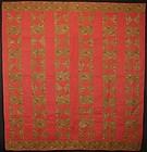 Hourglass Quilt: Circa 1870; Pennsylvania