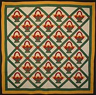 Baskets Quilt: Circa 1900; Pennsylvania
