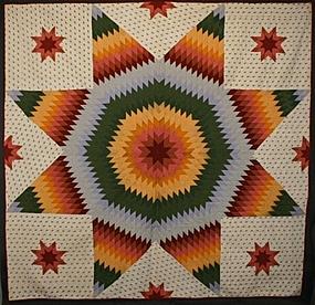 Lone Star Quilt: Circa 1870; Pennsylvania