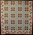 Dove in the Window Quilt: Circa 1860; Pennsylvania