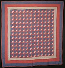 Flying Geese Quilt: Circa 1930; Maryland