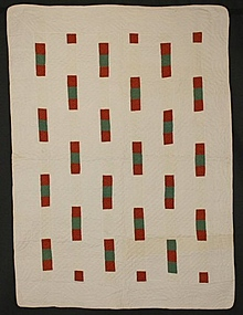 Bricks Crib Quilt: Circa 1880; Maryland