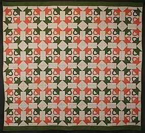 Four Baskets Quilt: Circa 1880; Pennsylvania