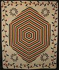 Huge Hexagons Quilt: Circa 1870; Pennsylvania