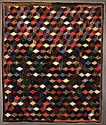Tumbling Blocks Quilt: Circa 1880; New York