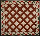 Irish Chain Quilt: Signed and Dated 1890; Pennsylvania