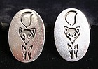 Antonio Pineda Sterling Cufflinks with Foxes
