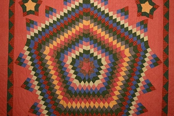 Fifteen Point Star Quilt: Circa 1880; Pennsylvania