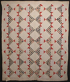 Stylized Baskets Quilt: Circa 1890; Pennsylvania