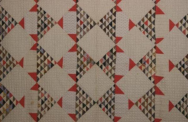 Stylized Baskets Quilt: Circa 1890; Pennsylvania