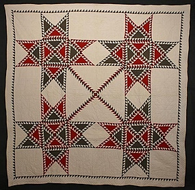 Star Spangled Banner Quilt: Circa 1880; Ohio