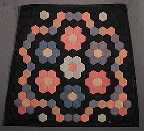 Mennonite Flower Garden Chair Pad: Ca. 1900; Pa.