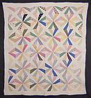 Pinwheels Variation Quilt: Circa 1930; Maryland