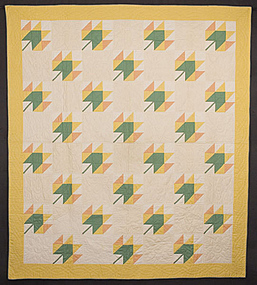 Maple Leaf Quilt: Circa 1920; Pennsylvania