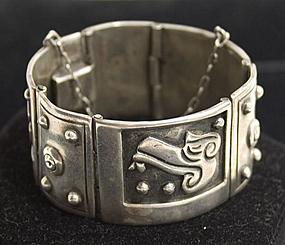 Sterling Silver Bracelet by Emma; Circa 1950