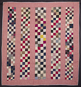 One Patch/ Bars Crib Quilt: Pennsylvania