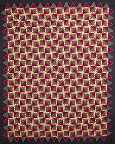 Irish Bear Paw Puzzle Quilt: Circa 1920; Pennsylvania