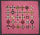 Nine Patch Crib Quilt Dated 1890; Pennsylvania