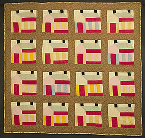 Schoolhouse Quilt: Circa 1880; Pennsylvania