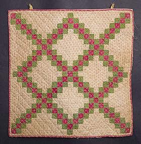 Irish Chain Privy Pocket: Circa 1860; Pennsylvania