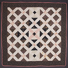Cross Roads Crib Quilt: Circa 1880; Pennsylvania