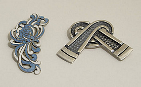 Margot de Taxco Sterling Silver Brooches