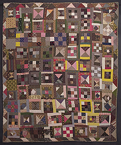 Nine Patch and Hourglass Quilt: Circa 1880; Pa.