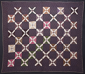 Cross Roads Quilt: Circa 1880