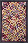 Stepped Rectangles Hooked Rug: Circa 1920