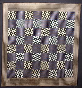 Pinwheels Quilt: Circa 1870; Pennsylvania