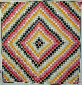 Trip Around the World Quilt; Pa., Ca. 1880