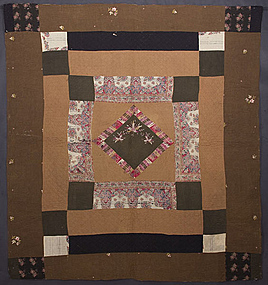 Diamond in a Square Quilt: Circa 1870
