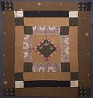 Diamond in a Square Quilt: Circa 1870