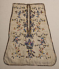 Crewel Embroidered Waist Pocket: Circa 1800