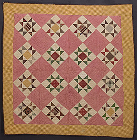 Variable Stars Crib Quilt: Circa 1870; Pennsylvania