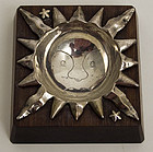 William Spratling Sterling Silver and Wood Sun Ashtray