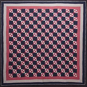 Hourglass Quilt: Circa 1880; Maryland