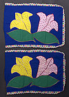 Pair of Appliqued Pillow Cases: Rarotonga; Circa 1970