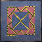 Delectable Mountains Crib Quilt: Circa 1870; Pa.