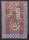 One Patch Doll Quilt: Circa 1870; New England