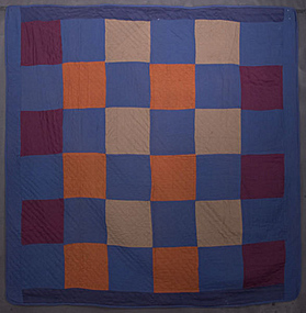 Amish One Patch Quilt: Circa 1920; Pennsylvania