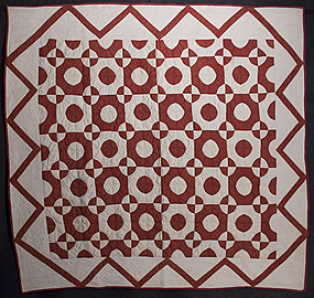 Full Moon Quilt: Circa 1870; Pennsylvania