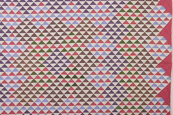 Thousand Pyramids Quilt: Circa 1880; Pennsylvania