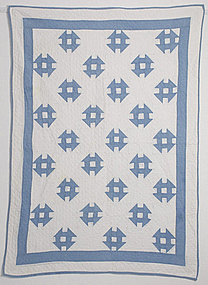 Monkey Wrench Crib Quilt: Circa 1920