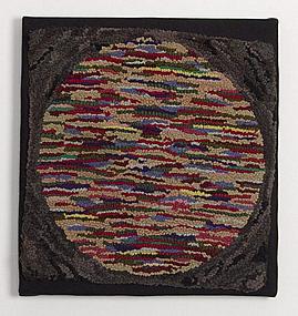 Circle Hooked Rug: Circa 1930;Pennsylvania