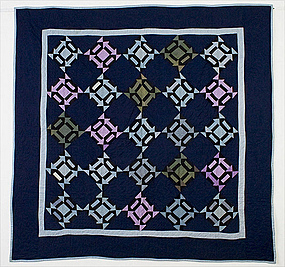 Amish London Roads Quilt: Dated 1922