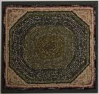 Hooked Rug - Octagon Pattern: circa 1920