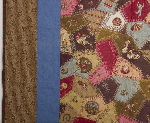 Cheater's Cloth Crib Quilt: Circa 1880